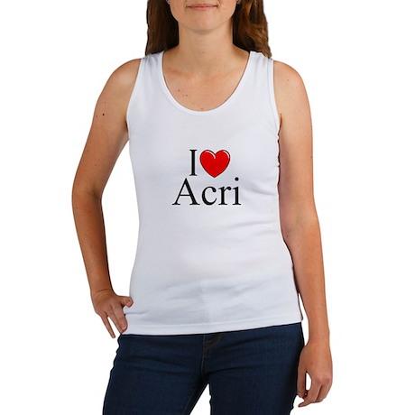 """I Love (Heart) Acri"" Women's Tank Top"
