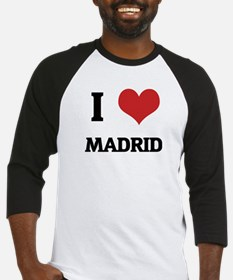 I Love Madrid Baseball Jersey