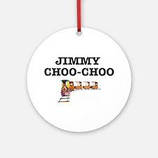 JIMMY CHOO-CHOO TRAIN Round Ornament