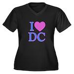 I Love DC Women's Plus Size V-Neck Dark T-Shirt