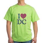 I Love DC Green T-Shirt