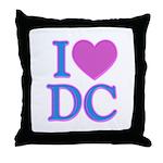 I Love DC Throw Pillow