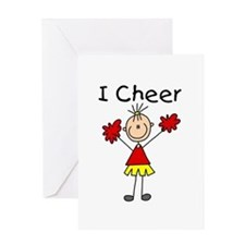 Stick Figure I Cheer Greeting Card
