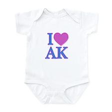 I Love AK Infant Bodysuit