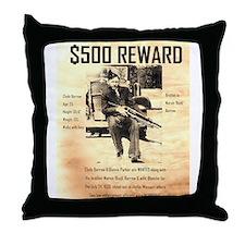 Clyde Barrow Throw Pillow