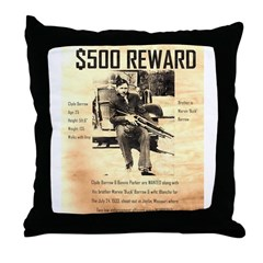 Clyde Barrow Throw Pillow