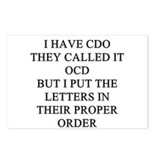 obsessive compulsive disorder Postcards (Package o