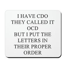 obsessive compulsive disorder Mousepad