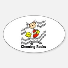 Cheering Rocks Oval Decal