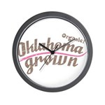Organic! Oklahoma Grown! Wall Clock