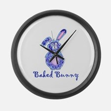 Baked Bunny design Large Wall Clock
