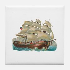 Vintage Ship 1 Tile Coaster