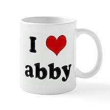 I Love abby Small Mug