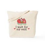 Breast Cancer Walk Aunt Tote Bag