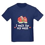Breast Cancer Walk Aunt Kids Dark T-Shirt