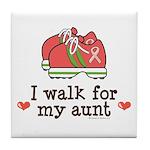 Breast Cancer Walk Aunt Tile Coaster