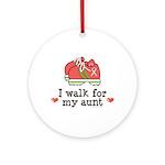 Breast Cancer Walk Aunt Ornament (Round)