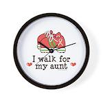 Breast Cancer Walk Aunt Wall Clock