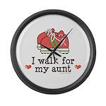 Breast Cancer Walk Aunt Large Wall Clock