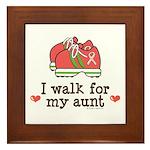 Breast Cancer Walk Aunt Framed Tile