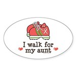 Breast Cancer Walk Aunt Oval Sticker