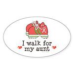Breast Cancer Walk Aunt Oval Sticker (10 pk)