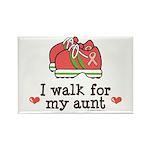 Breast Cancer Walk Aunt Rectangle Magnet (100 pack