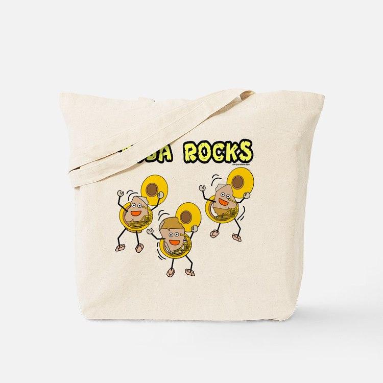 Tuba Rocks Tote Bag