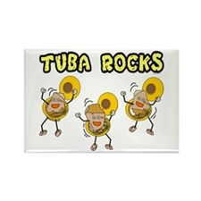 Tuba Rocks Rectangle Magnet