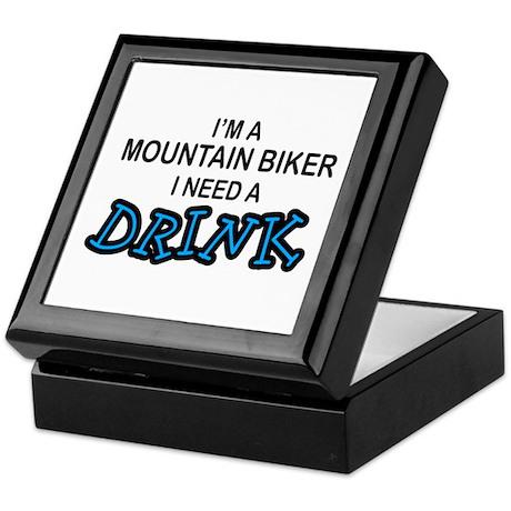 Mountain Biker Need a Drink Keepsake Box
