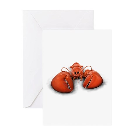 Chilling Lobster Greeting Card