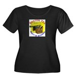 Wyoming Women's Plus Size Scoop Neck Dark T-Shirt