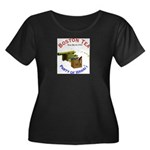 Hawai'i Women's Plus Size Scoop Neck Dark T-Shirt