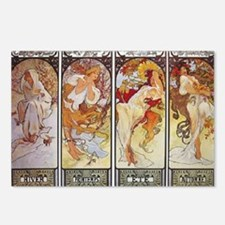 Les Saisons (The Seasons) Postcards (Package of 8)