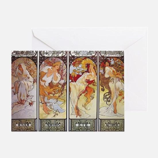 Les Saisons (The Seasons) Greeting Card