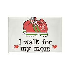 Breast Cancer Walk Mom Rectangle Magnet