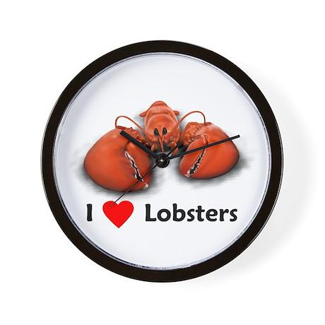 I Love Lobsters Wall Clock