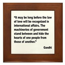 Gandhi Law of Love Quote Framed Tile