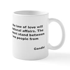 Gandhi Law of Love Quote Mug