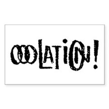 Ooolation! rectangle sticker