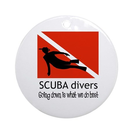 Scuba Divers Ornament (Round)