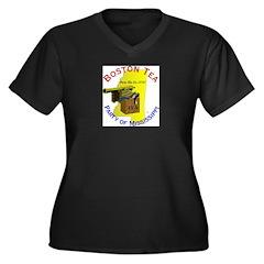Mississippi Women's Plus Size V-Neck Dark T-Shirt