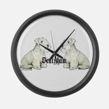 Sealyham Terrier Dog Portrait Large Wall Clock