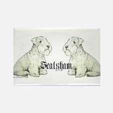 Sealyham Terrier Dog Portrait Rectangle Magnet
