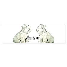 Sealyham Terrier Dog Portrait Bumper Bumper Sticker