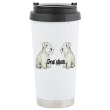 Sealyham Terrier Dog Portrait Travel Mug