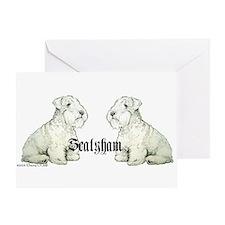 Sealyham Terrier Dog Portrait Greeting Card