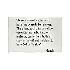 Gandhi Moral Basis Quote Rectangle Magnet (10 pack