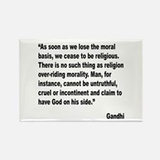 Gandhi Moral Basis Quote Rectangle Magnet (10 pack
