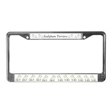 Sealyham Terrier Dog Portrait License Plate Frame